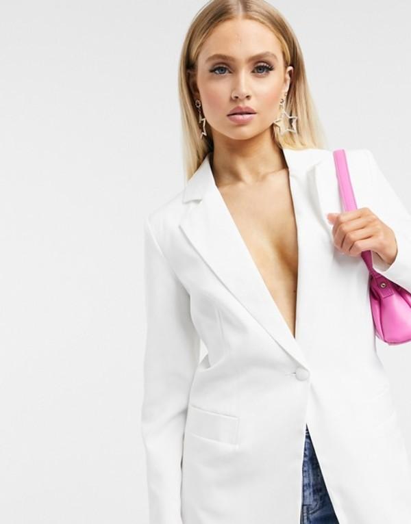 ユニークトゥエンティワン レディース ジャケット・ブルゾン アウター Unique21 tailored single button blazer in ivory White