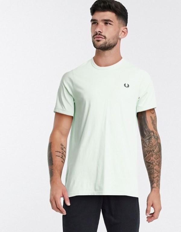 【予約受付中】 フレッドペリー メンズ シャツ トップス シャツ Fred Perry フレッドペリー ringer トップス t-shirt in pastel green Misty jade, ママズフィッシングハウス:def1357b --- assenheims.co.uk