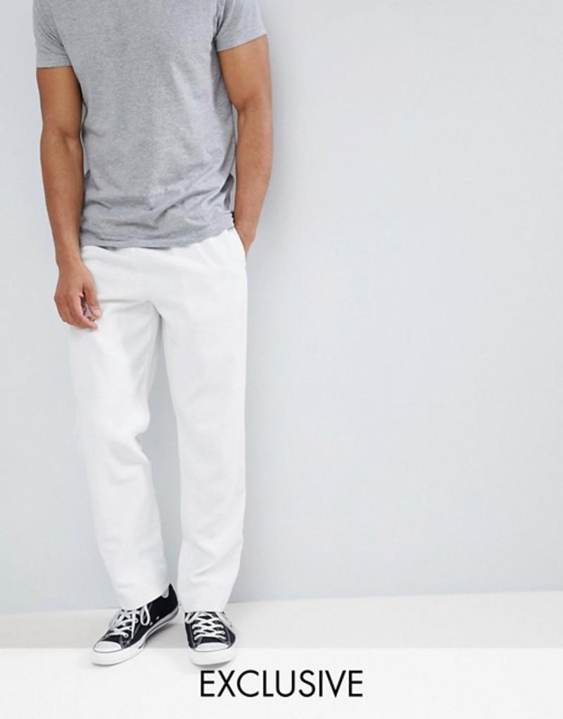 リクレイム ヴィンテージ メンズ カジュアルパンツ ボトムス Reclaimed Vintage Inspired Cord Pants In Ecru Ecru