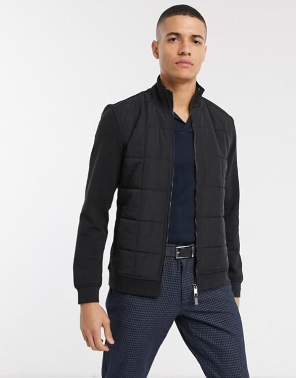 テッドベーカー メンズ ジャケット・ブルゾン アウター Ted Baker padded jacket in black Black