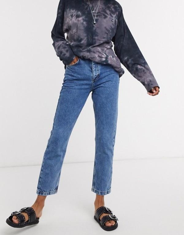 リクレイム ヴィンテージ レディース デニムパンツ ボトムス Reclaimed Vintage inspired The 91' mom jean in classic blue Blue