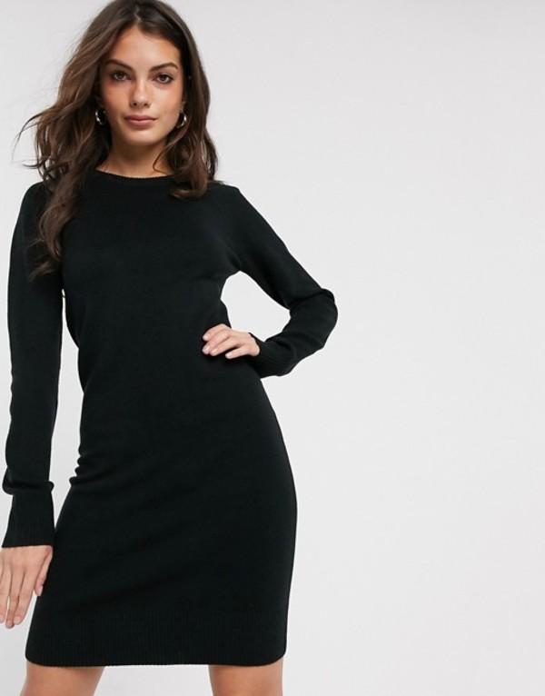 フレンチコネクション レディース ワンピース トップス French Connection Babysoft raglan sleeve sweater dress Black