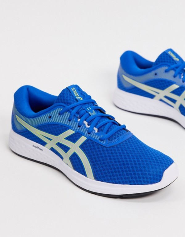 アシックス メンズ スニーカー シューズ Asics Running Patriot 11 sneakers in blue and silver Blue