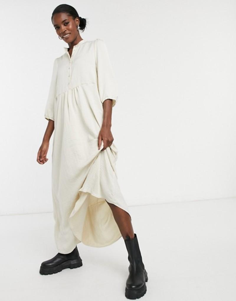 ヴェロモーダ レディース ワンピース トップス Vero Moda midaxi shirt dress in birch Birch