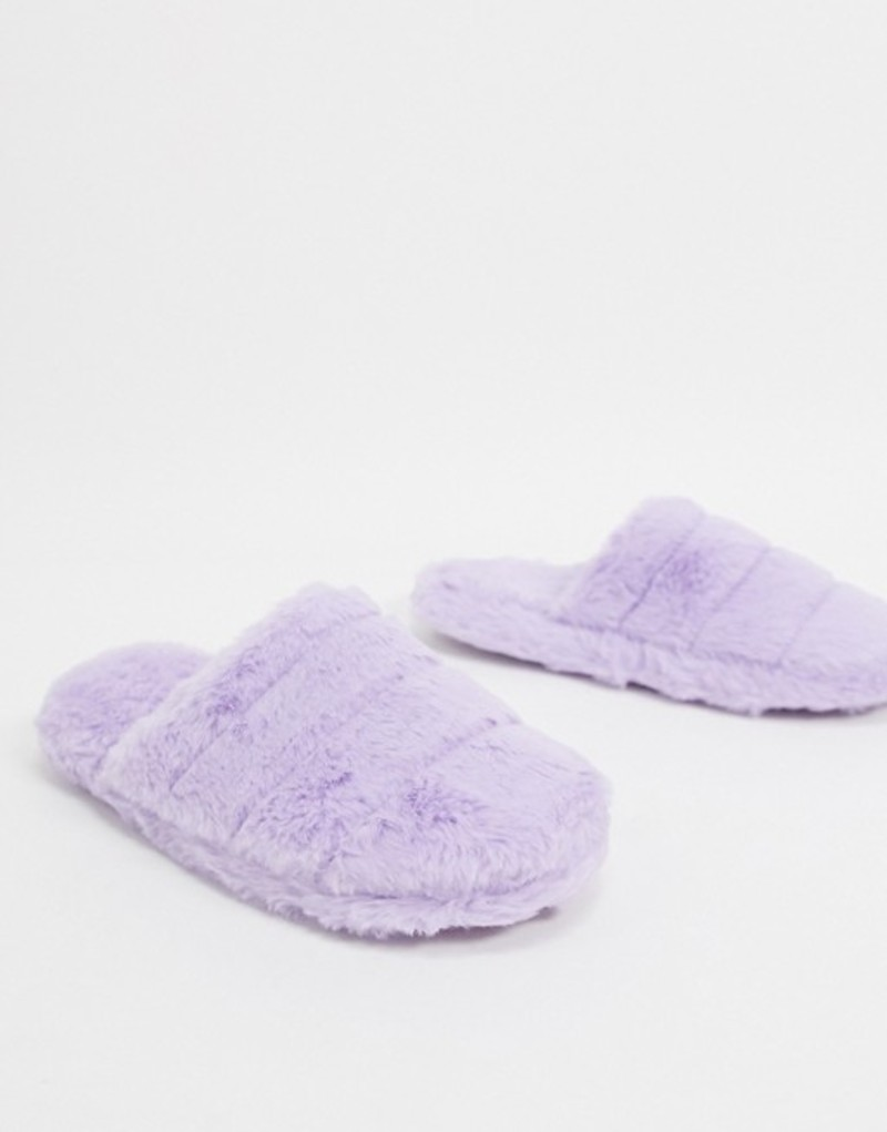 エイソス レディース サンダル シューズ ASOS DESIGN Zoe quilted slider slippers in lilac Lilac