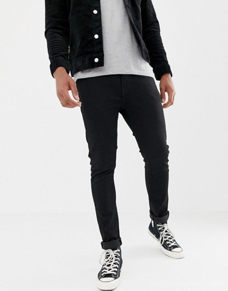 リーバイス メンズ デニムパンツ ボトムス Levi's 510 skinny fit jeans in stylo advanced black Black