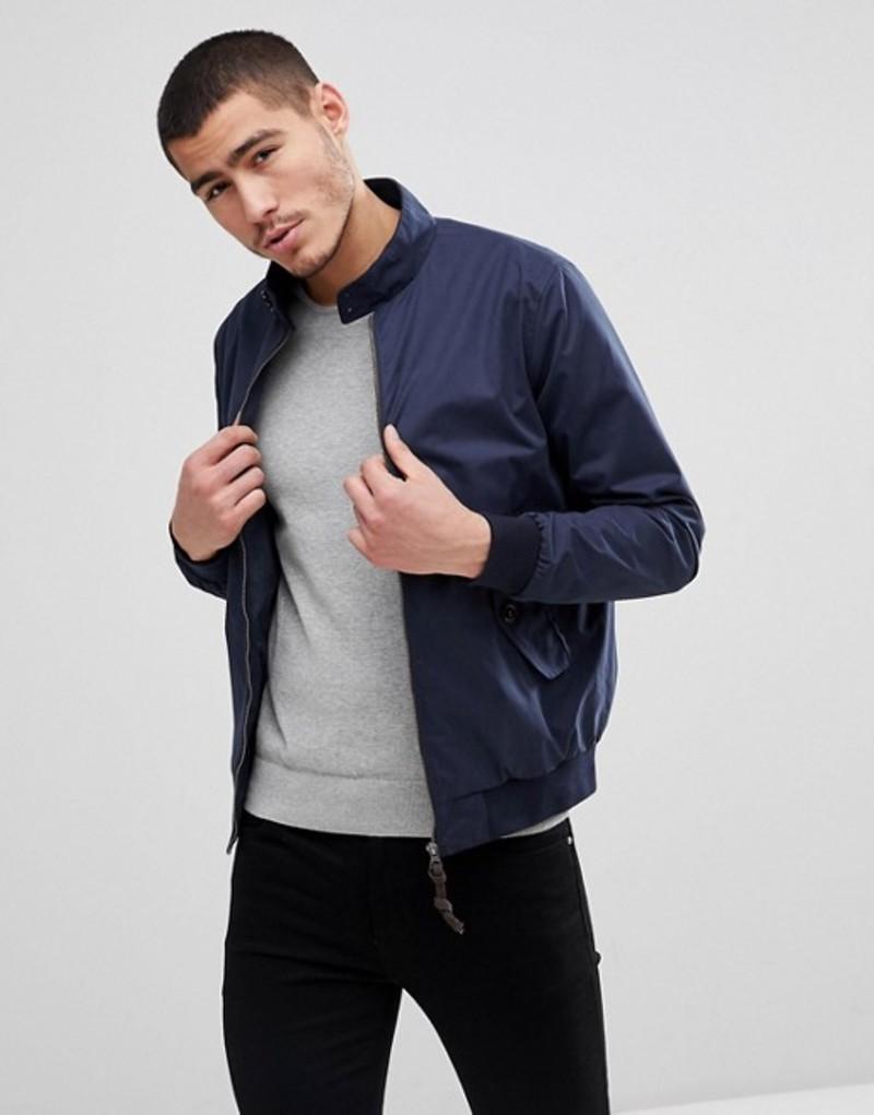 ジャック アンド ジョーンズ メンズ ジャケット・ブルゾン アウター Jack & Jones Premium Harrington Jacket Navy blazer
