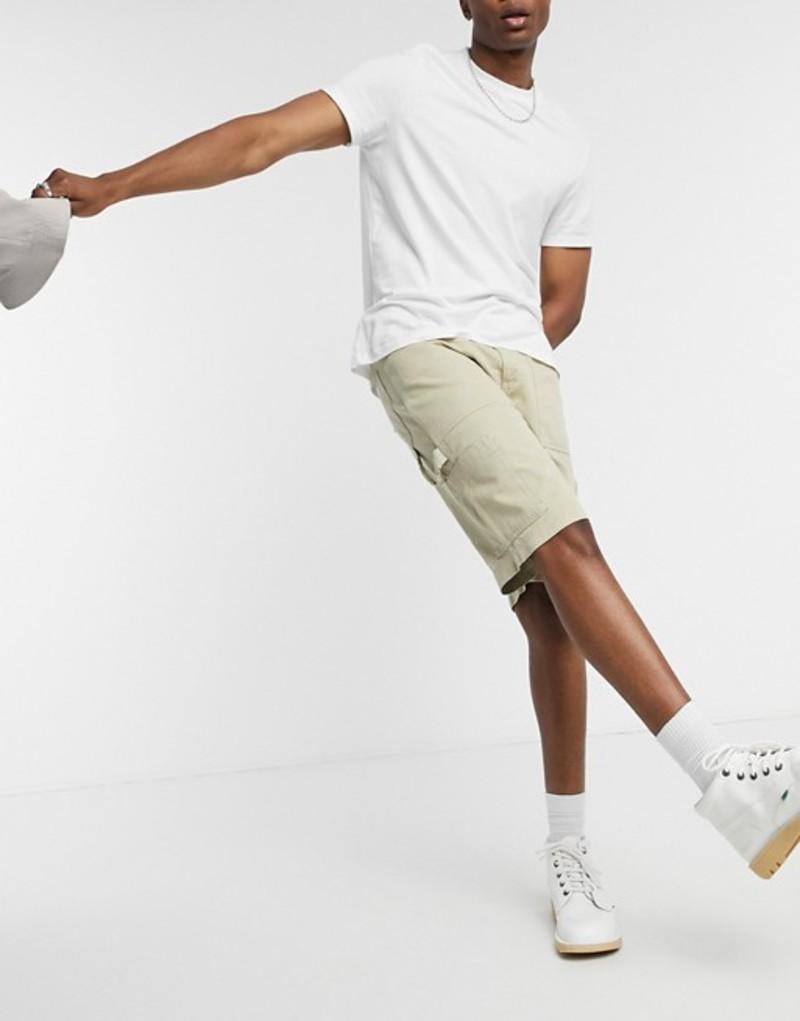 キッカーズ メンズ ハーフパンツ・ショーツ ボトムス Kickers drill shorts cargo shorts in beige Beige