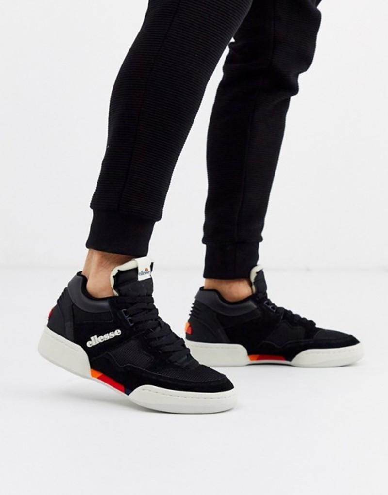エレッセ メンズ スニーカー シューズ Ellesse piazza sneaker in black Black