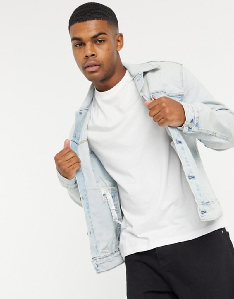 リーバイス メンズ ジャケット・ブルゾン アウター Levi's The Trucker denim jacket in bleach wash Blue