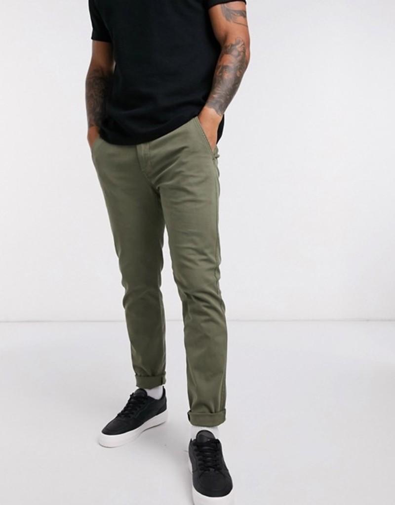 リーバイス メンズ カジュアルパンツ ボトムス Levi's XX Chino slim fit pants in olive green Green