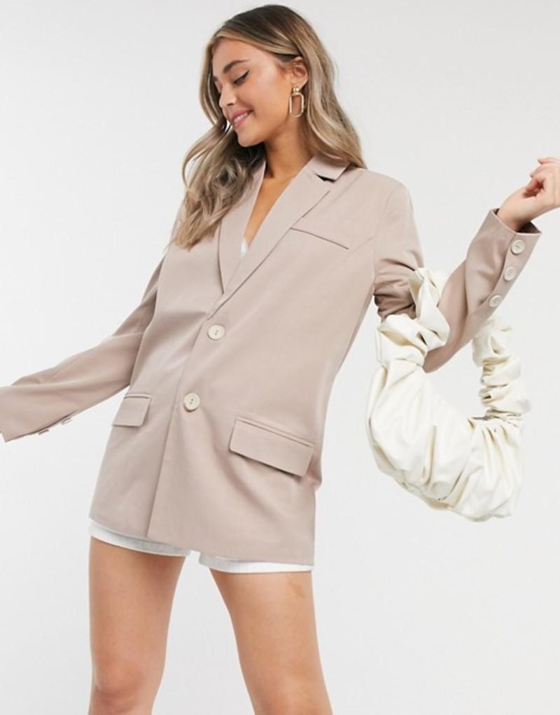 ファッションモンキー レディース ジャケット・ブルゾン アウター Fashion Union blazer two-piece Beige