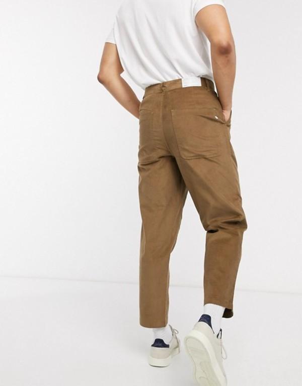 ファーラー メンズ カジュアルパンツ ボトムス Farah Hawtin crop cord pants Brown