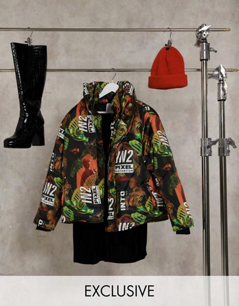 COLLUSION padded アウター Unisex コルージョン puffer Multi ジャケット・ブルゾン jacket メンズ printed