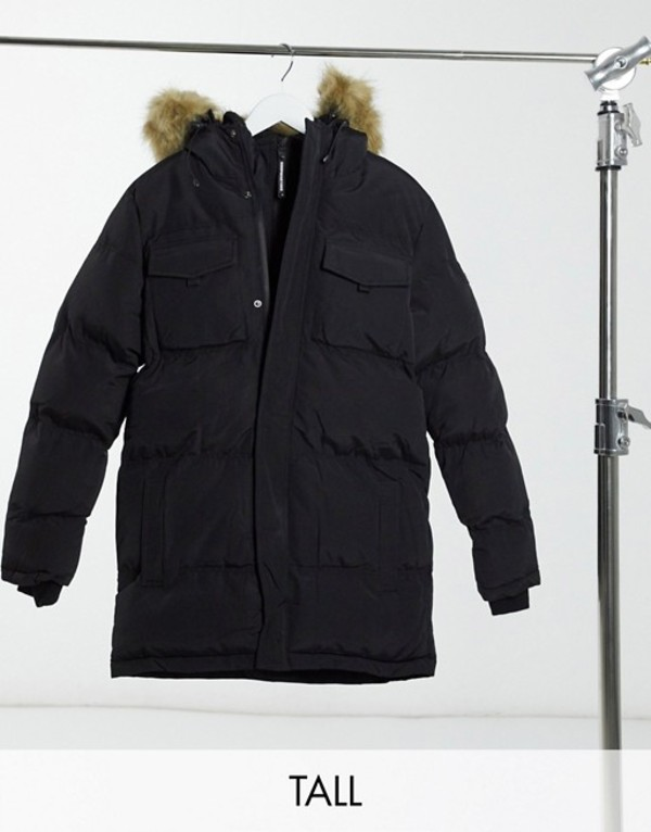black hood メンズ For アウター double layer parka Black コート グッドフォーナッシング with Good Nothing faux-fur in