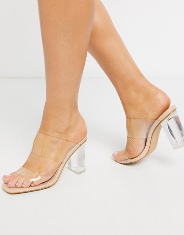 pu サンダル レディース detail Kimana シミ clear London sandals in シューズ beige Beige Simmi
