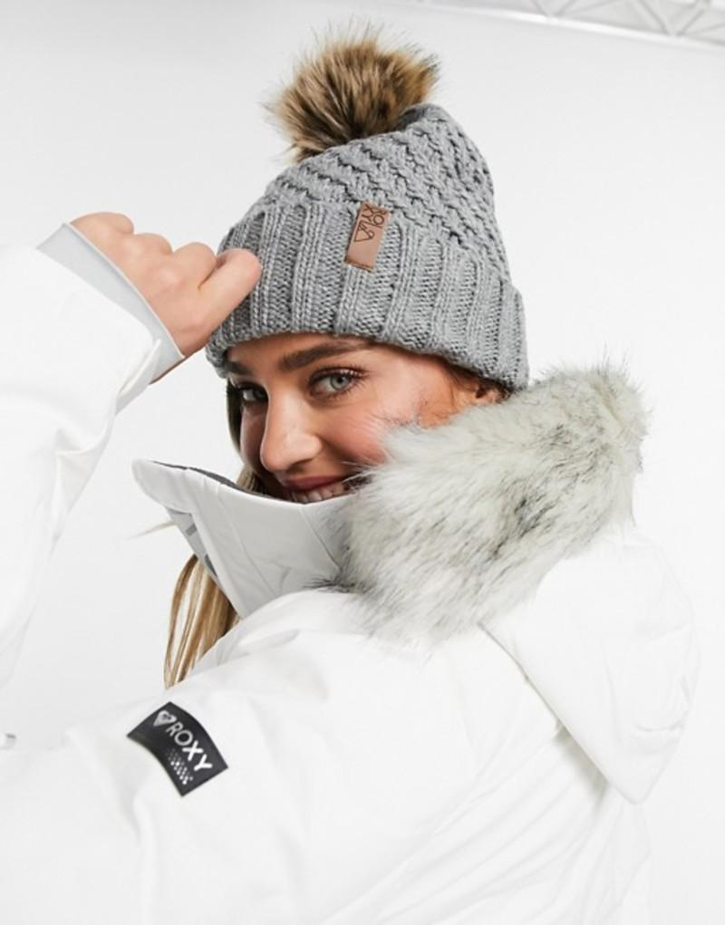 ロキシー レディース 帽子 アクセサリー Roxy Blizzard beanie in grau Heather gray