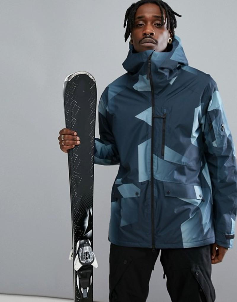 ピークパフォーマンス メンズ ジャケット・ブルゾン アウター Peak Performance Hakuba Print Ski Jacket In Blue 992 blue steel p