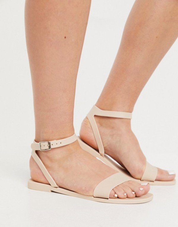 送料無料 サイズ交換無料 エイソス レディース シューズ サンダル Beige 今ダケ送料無料 国産品 matte DESIGN beige sandals jelly Fia ASOS in