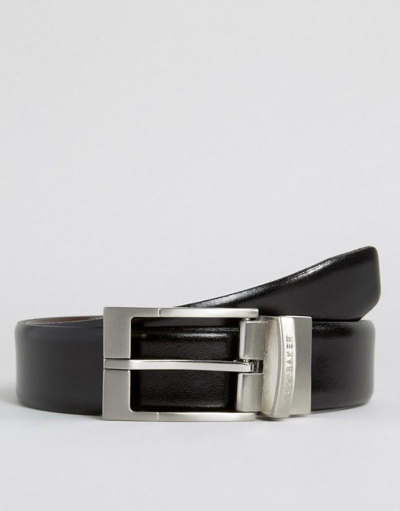 テッドベーカー メンズ ベルト アクセサリー Ted Baker Reversible Smart Leather Belt Black