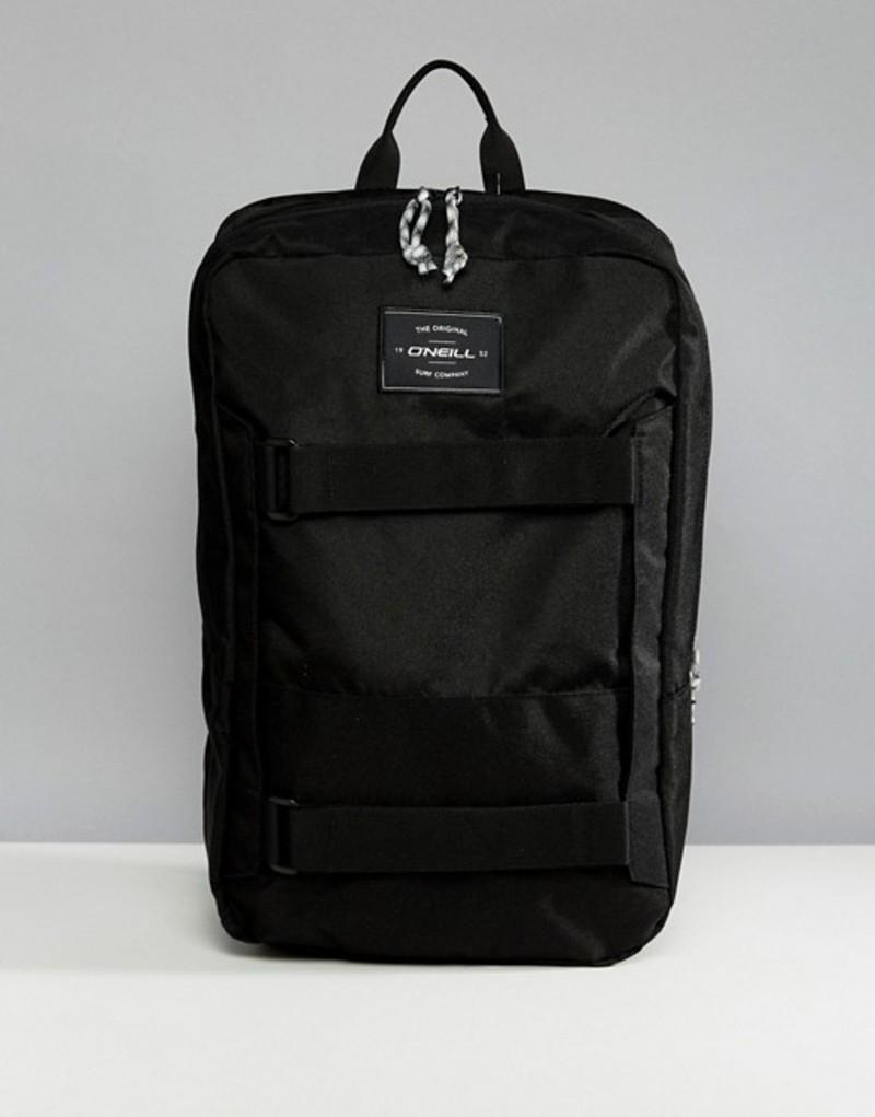 オニール メンズ バックパック・リュックサック バッグ O'Neill Boarder Plus Backpack 20L in Black Blackout