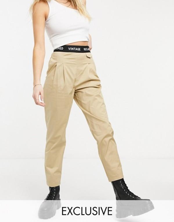 Vintage カジュアルパンツ ヴィンテージ inspired ボトムス レディース Stone リクレイム with pant waistband peg original Reclaimed elasticized