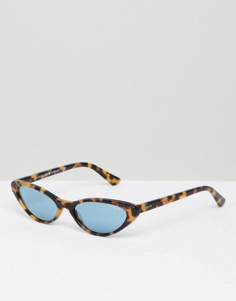 ヴォーグ メンズ サングラス・アイウェア アクセサリー Vogue Cat Eye Sunglasses by Gigi Hadid in Tort Brown