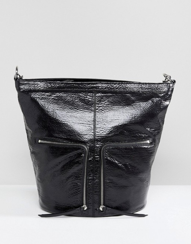 オールセインツ レディース バックパック・リュックサック バッグ AllSaints Fetch Backpack with Zip Detail Black