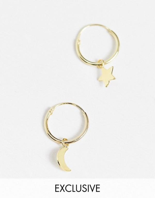 送料無料 サイズ交換無料 キングスリーライアン レディース アクセサリー 日本全国 ピアス イヤリング Gold Kingsley Ryan Exclusive sun star hoop earrings drops and 12mm in gold celestial with 新商品