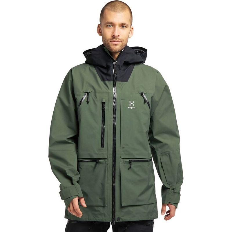 送料無料 サイズ交換無料 ホグロフス メンズ 秀逸 アウター ジャケット ブルゾン Fjell GTX 即納最大半額 Pro Jacket True Green Vassi Black