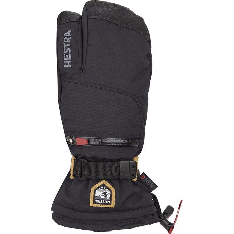 送料無料 好評 サイズ交換無料 ヘストラ 激安特価品 メンズ アクセサリー 手袋 3-Finger CZone Glove All Black Mountain
