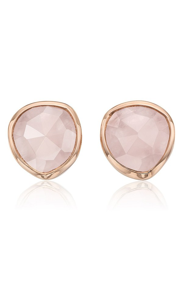 モニカヴィナダー レディース ピアス・イヤリング アクセサリー Monica Vinader 'Siren' Semiprecious Stone Stud Earrings (Nordstrom Exclusive) Rose Quartz/ Rose Gold