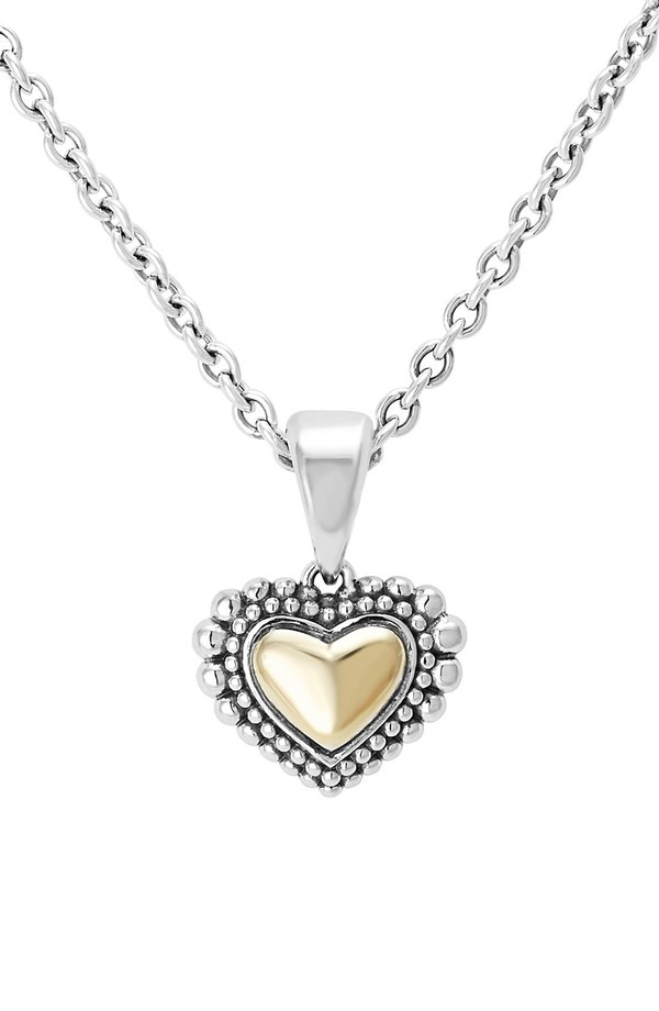 Patagonia lagos two tone heart pendant necklace silver gold mozeypictures Images