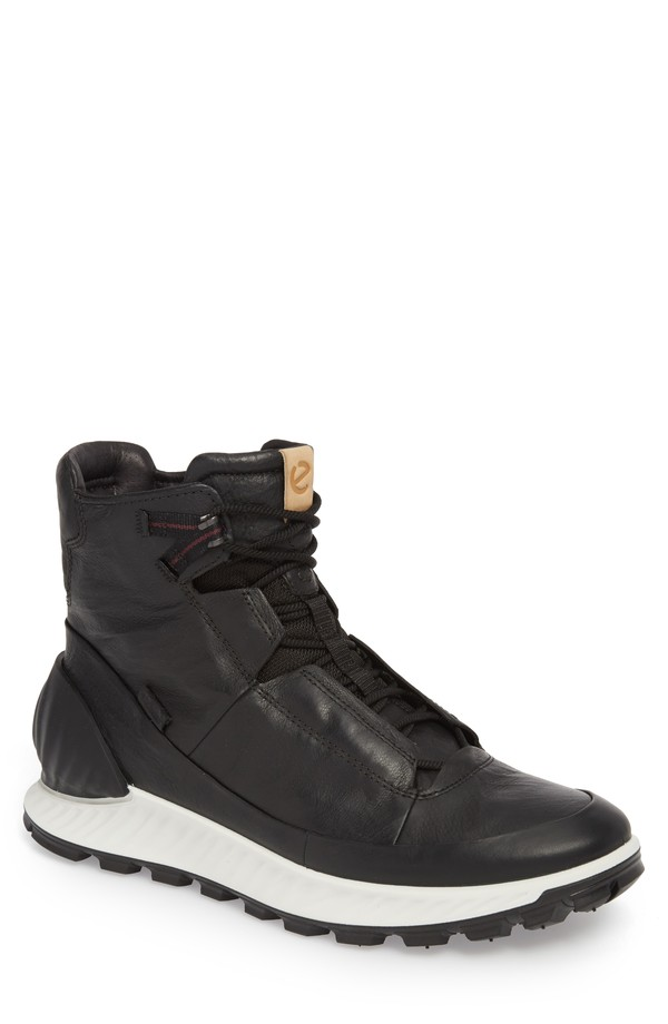 エコー メンズ スニーカー シューズ ECCO Limited Edition Exostrike Dyneema Sneaker Boot (Men) Black Leather
