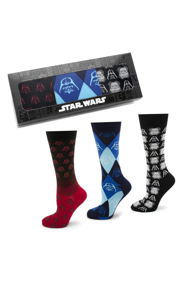 カフリンク メンズ 靴下 アンダーウェア Cufflinks, Inc. 'Star Wars' Darth Vader & Stormtrooper 3-Pack Socks Black