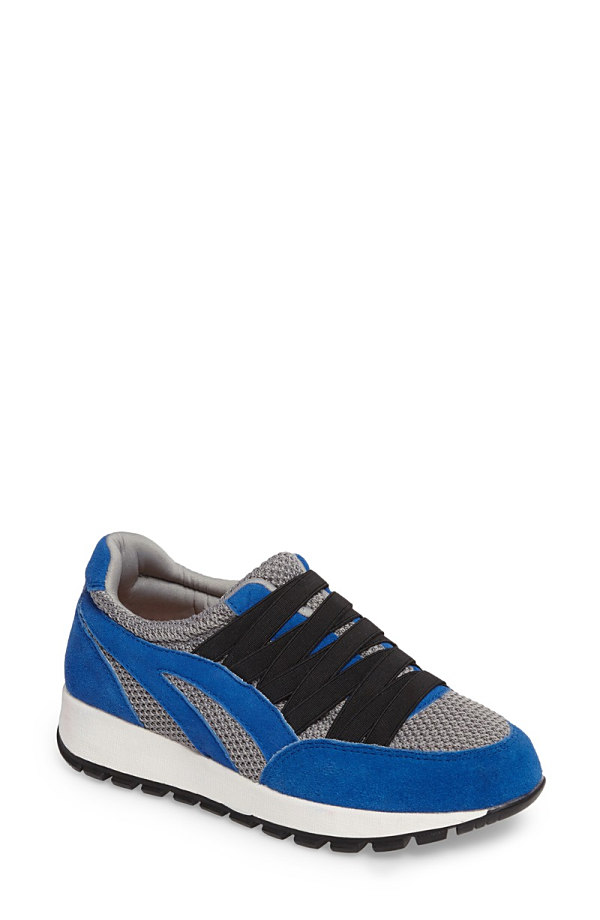 バーニーメブ レディース スニーカー シューズ Bernie Mev Tara Cano Sneaker (Women) Royal Blue/ Grey Fabric