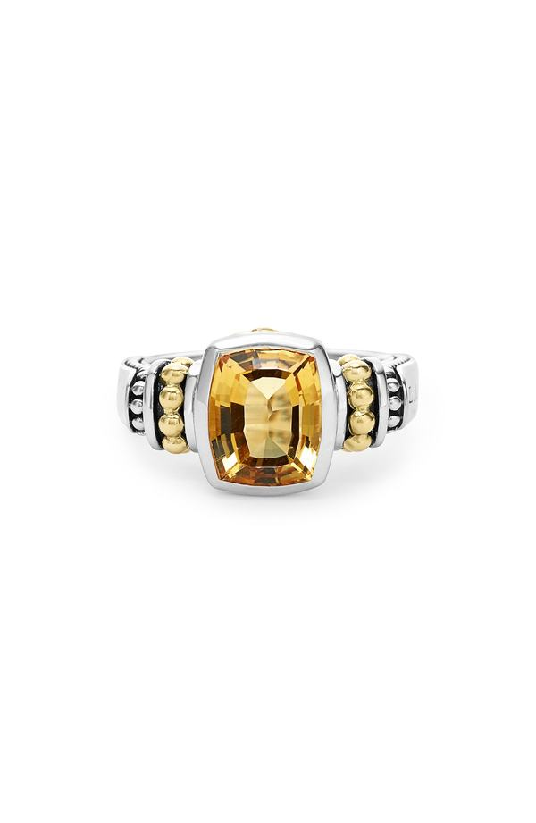 ラゴス レディース 指輪 アクセサリー LAGOS 'Caviar Color' Small Semiprecious Stone Ring Citrine