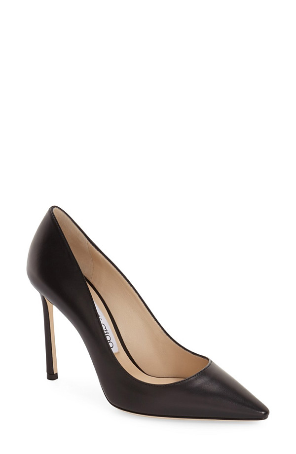 ジミーチュー レディース ヒール シューズ Jimmy Choo 'Romy' Pointy Toe Pump (Women) Black Leather