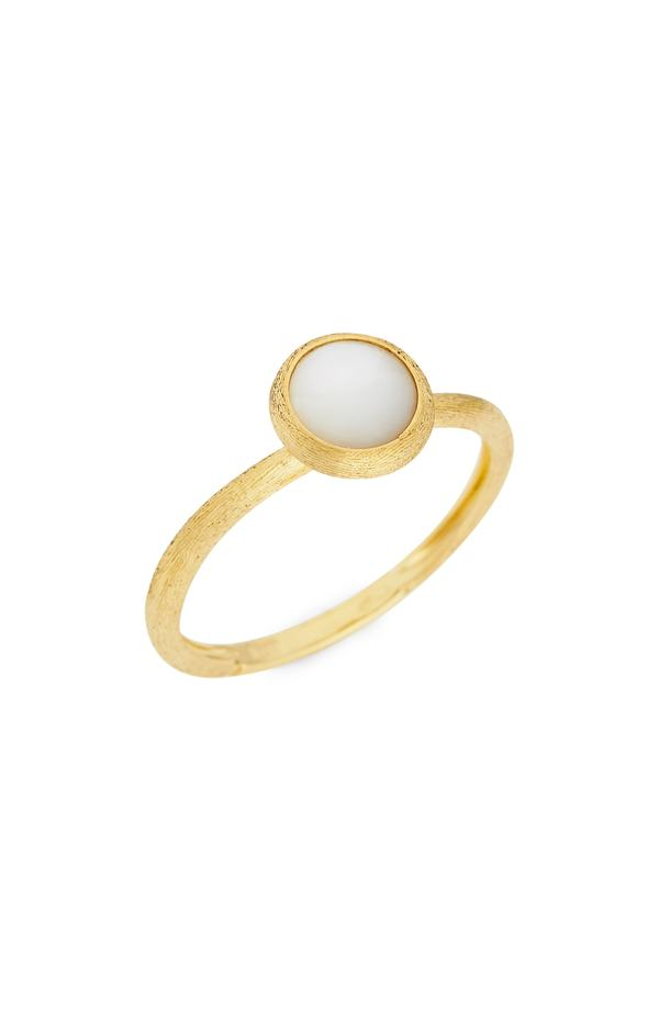 マルコ ビチェゴ レディース 指輪 アクセサリー Marco Bicego 'Jaipur' Stackable Ring Yellow Gold/ Mother Of Pearl