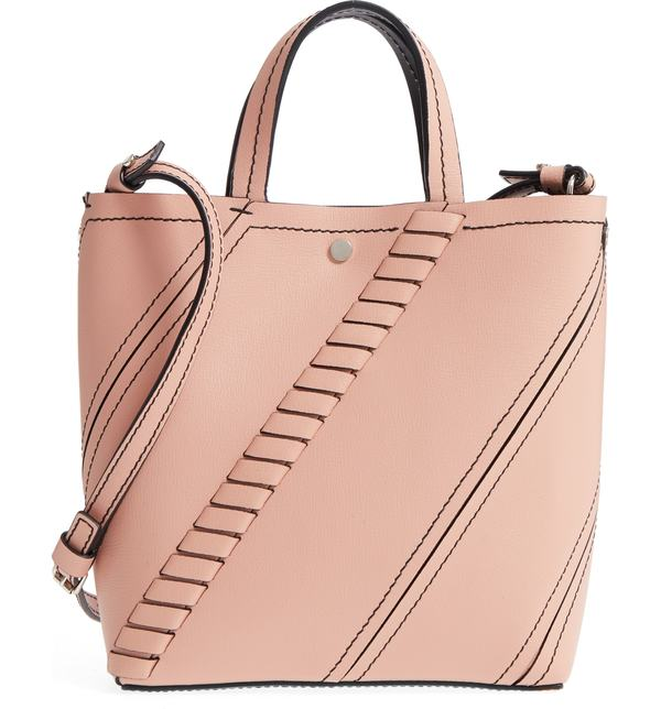 プロエンザショラー レディース トートバッグ バッグ Proenza Schouler Mini Hex Whipstitch Calfskin Leather Tote Deep Blush, ASH-LIFE:fb422f69 --- jpsauveniere.be