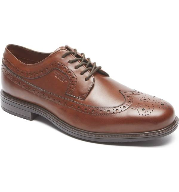 ロックポート メンズ スニーカー シューズ Rockport 'Essential Details II' Wingtip Tan Antique