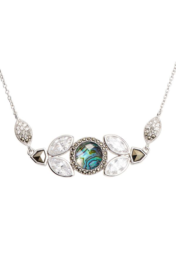 abalone silver judith jack crystal pendant necklace abalone mozeypictures