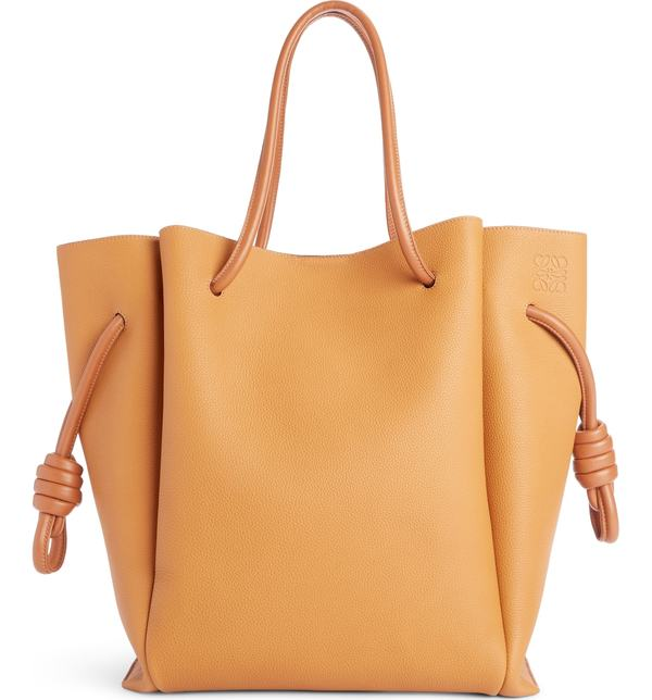 ロエベ レディース トートバッグ バッグ Loewe Flamenco Knot Leather Tote Light Caramel/ Tan