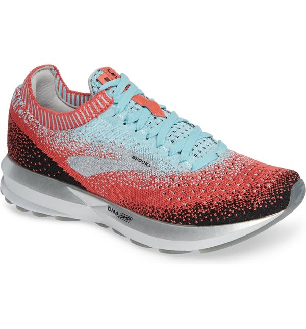 ブルックス レディース ブルックス スニーカー シューズ Brooks Black シューズ Levitate 2 Running Shoe Coral/ Blue/ Black, True Stone:2b493de3 --- sunward.msk.ru