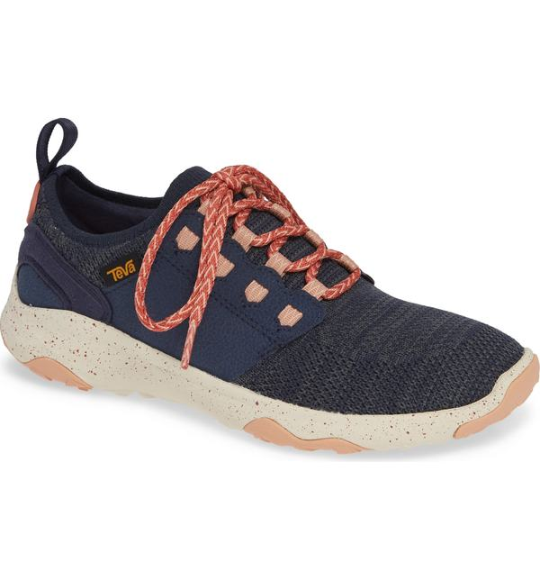 テバ レディース スニーカー シューズ Teva Arrowood 2 Waterproof Knit Sneaker Midnight Navy Fabric