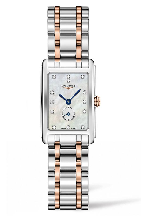 ロンジン レディース 腕時計 アクセサリー Longines DolceVita Diamond Bracelet Watch, 20.5mm x 32mm Silver/ Mop/ Rose Gold