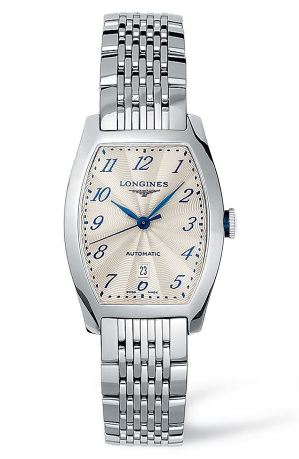 ロンジン レディース 腕時計 アクセサリー Longines Evidenza Automatic Bracelet Watch, 26mm x 30.6mm Silver