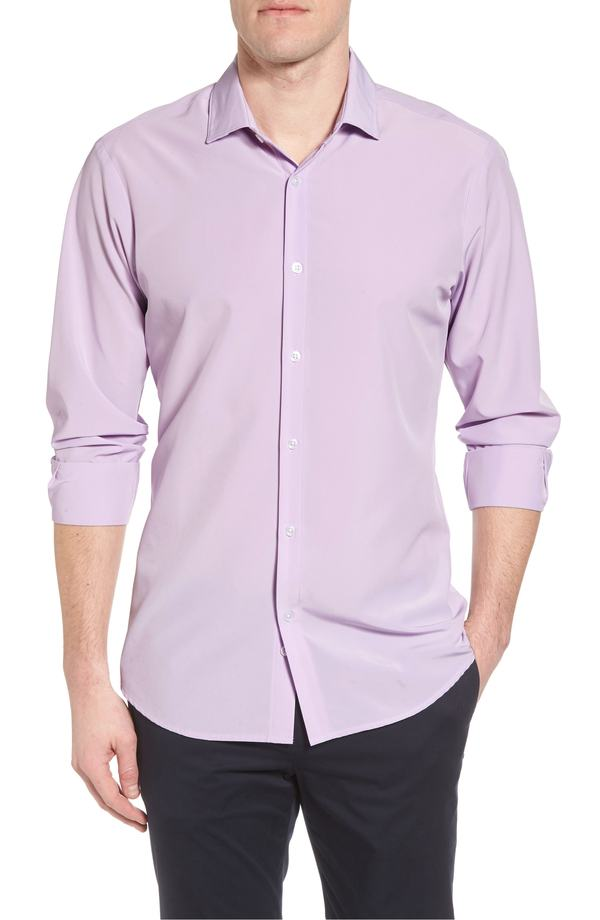 ミズンメイン メンズ シャツ トップス Mizzen+Main Henderson Performance Sport Shirt Purple