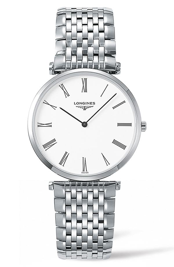 ロンジン レディース 腕時計 アクセサリー Longines La Grande Classique de Longines Bracelet Watch, 34mm Silver/ White/ Silver