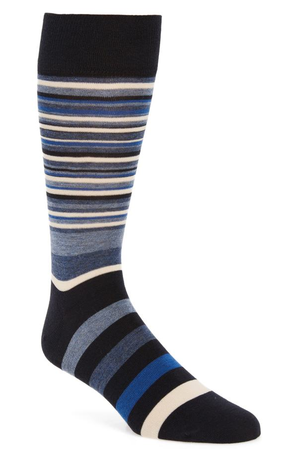コールハーン メンズ スニーカー シューズ Cole Haan Town Stripe Crew Socks (3 for $30) Navy/ Astor Blue Stripe
